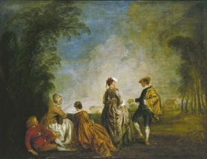 Fig. 1 - Antoine Watteau - La proposition embarassante