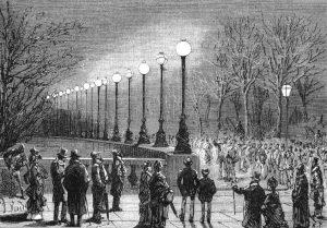 Eclairage à Londres en 1878