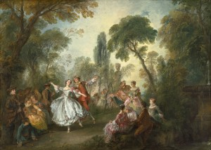 Fig. 2 - Nicolas Lancret - Fête galante avec la Camargo dansant avec un partenaire (c. 1727-1728) © Courtesy National Gallery of Art, Washington