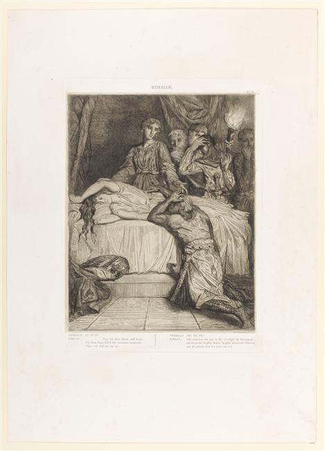 Théodore Chassériau, Oh ! Oh ! Oh !.... pour Othello, planche tirée de Othello. Quinze esquisses à l'eau-forte, 1844. © RMN-Grand Palais (Musée du Louvre) / Stéphane Maréchalle.