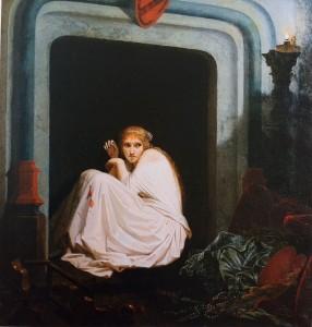 Emile Signol (1804-1892), La Folie de la fiancée de Lammermoor, 1850, huile sur toile, Musée des Beaux-Arts, Tours © D. Couineau/ musée des Beaux-Arts de Tours