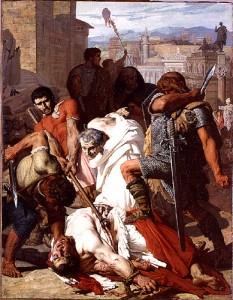 Lenepveu, Jules-Eugène (1819-1898), La Mort de Vitellius, 1847, huile sur toile, Paris, Ecole nationale supérieure des Beaux-arts © Beaux- arts de Paris. Dist. RMN Grand-Palais / image Beaux-arts de Paris