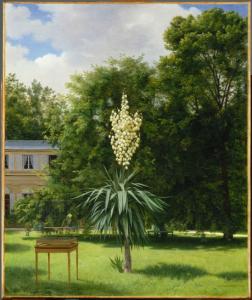 Photo : Antoine CHAZAL, Le Yucca gloriosa fleuri en 1844 dans le parc de Neuilly, 1845, huile sur toile, 65x54 cm, Paris, musée du Louvre. © RMN-Grand Palais (musée du Louvre)/ Gérard Blot