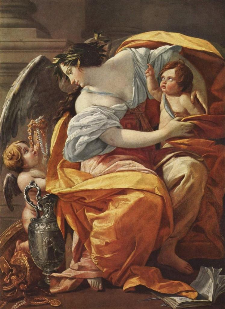 Simon Vouet (1590-1649), La Richesse ou Allégorie de la Richesse, vers 1640, huile sur toile, Paris, musée du Louvre. © Musée du Louvre, dist. RMN-Grand Palais / Angèle Dequier
