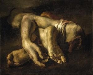 Théodore Géricault (1791-1824), Etude de pieds et de mains, 1818-1819, huile sur toile, Montpellier, Musée Fabre © Musée Fabre de Montpellier Agglomération – cliché Frédéric Jaulmes