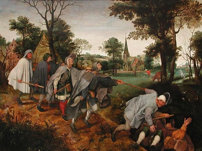 Copie d'après Pieter I Bruegel (1525-1569), La Parabole des aveugles, fin du XVIe siècle, huile sur toile. Paris, musée du Louvre © RMN-Grand Palais (musée du Louvre) / Michel Urtado