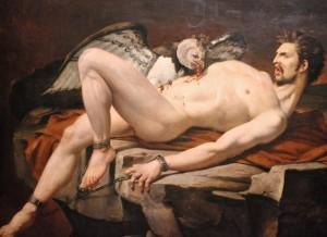 Charles Brocas, Le supplice de Prométhée, 1830, huile sur toile, Paris, Collection particulière. Visuel : http://www.montmartre-secret.com/