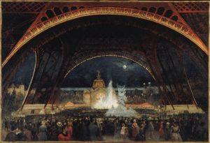 Fête de nuit à l'Exposition universelle de 1889