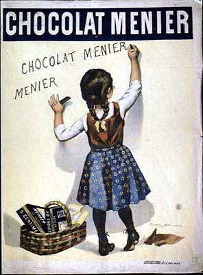 Firmin Bouisset, Affiche publicitaire pour les chocolats Menier, 1893. © DR.