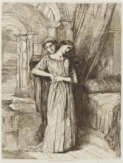 Théodore Chassériau, Le coucher de Desdémone, non daté, héliogravure. Photo © RMN-Grand Palais / Franck Raux. N.B : Cette œuvre ne fait pas partie de l'exposition.