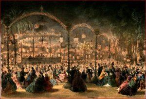Le Bal Mabille, lithographie de 1858