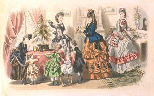 Gravure de Mode, autour de 1890.
