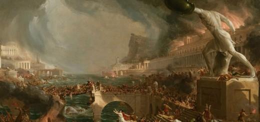 Thomas Cole (1801-1848), Le Destin des empires. La Destruction, 1836, huile sur toile. New York, collection de la New York Historical Society © The New York Historical Society