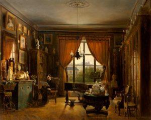 Prosper Lafaye, Pierre-Joseph-Guillaume Zimmermann, pianiste, vers 1840, huile sur toile, Versailles, châteaux de Versailles et de Trianon